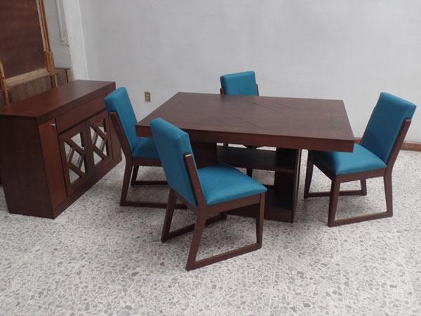 Comedor 4 sillas tapizadas | Comercial Casa Morales Acambaro, muebleria